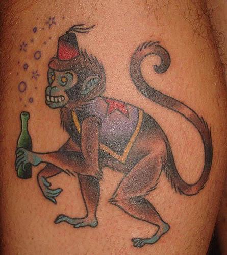 Drunk-circus-monkey-tattoo